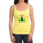 I Love Green Beer Jr. Spaghetti Tank