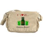 I Love Green Beer Messenger Bag