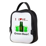 I Love Green Beer Neoprene Lunch Bag