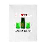 I Love Green Beer Twin Duvet