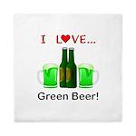 I Love Green Beer Queen Duvet