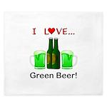 I Love Green Beer King Duvet