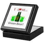 I Love Green Beer Keepsake Box
