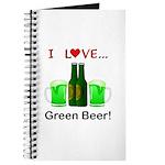 I Love Green Beer Journal