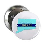"10 Pack - True Blue CT LIBERAL - 2.25"" Button"