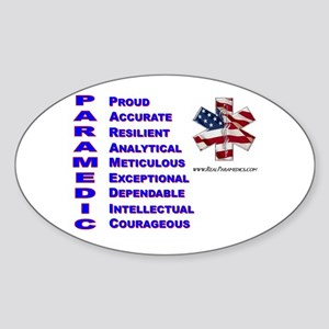 This Is A Paramedic Oval Sticker