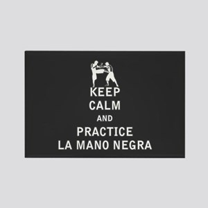 Keep Calm and Practice La Mano Negra Magnets