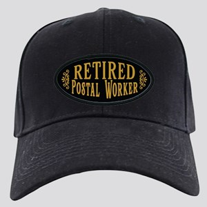 Retired Postal Worker Black Cap with Patch