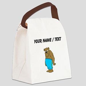 Custom Bear In Shorts Canvas Lunch Bag
