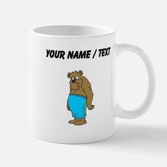 Custom Bear In Shorts Mugs