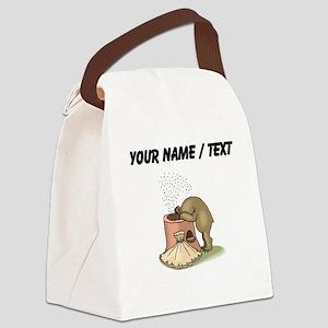 Custom Bear Gathering Honey Canvas Lunch Bag