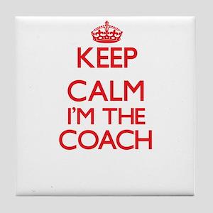 Keep calm I'm the Coach Tile Coaster