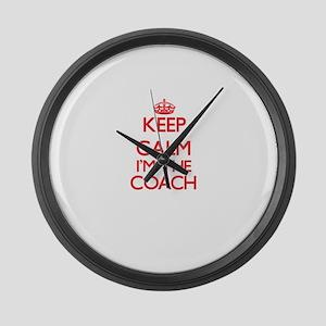 Keep calm I'm the Coach Large Wall Clock