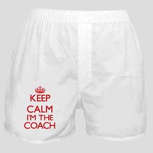 Keep calm I'm the Coach Boxer Shorts