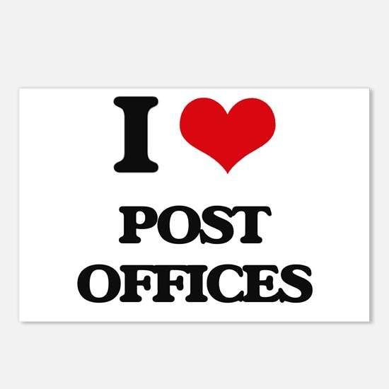 post offices Postcards (Package of 8)