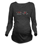 I Love Skunks Long Sleeve Maternity T-Shirt