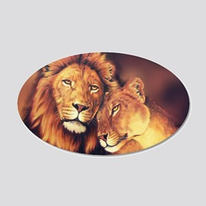 Lions Soulmates Wall Decal
