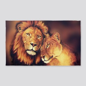 Lions Soulmates Area Rug