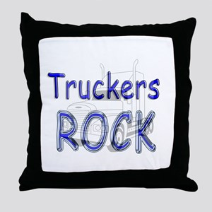 Truckers Rock Throw Pillow