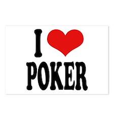 I Love Poker Postcards (Package of 8)