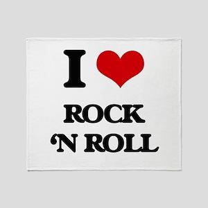 rock 'n roll Throw Blanket