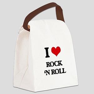 rock 'n roll Canvas Lunch Bag