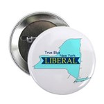"""2.25"""" Button (10 pack) -- True Blue NY LIBERAL"""