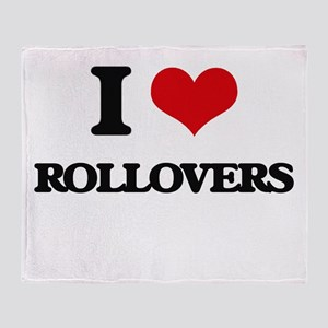 rollovers Throw Blanket