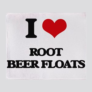 root beer floats Throw Blanket