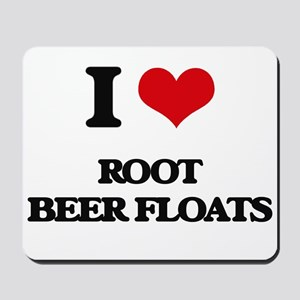 root beer floats Mousepad