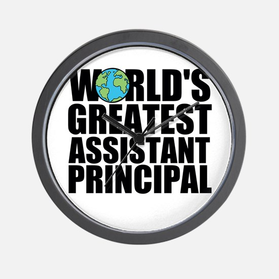 World's Greatest Assistant Principal Wall Cloc