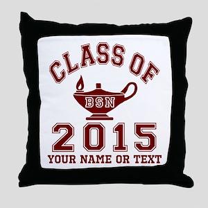 Class Of 2015 BSN Throw Pillow