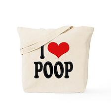 I Love Poop Tote Bag