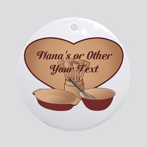 Personalized Cooking Ornament (Round)