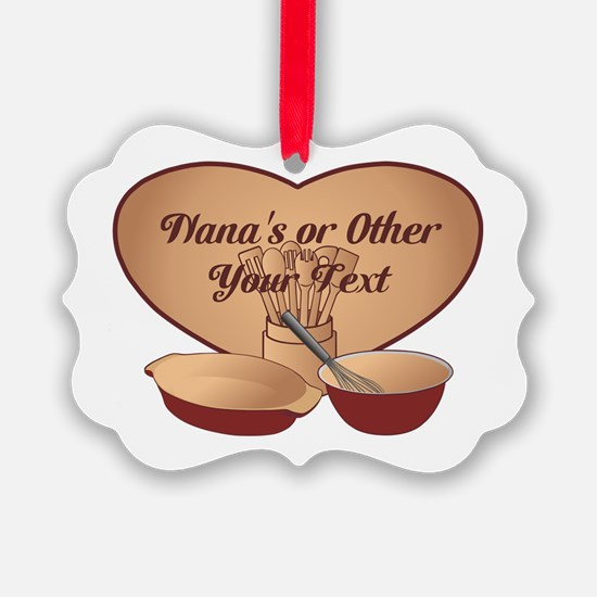 Personalized Cooking Ornament