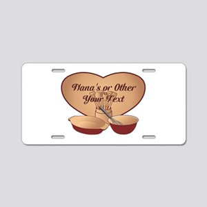 Personalized Cooking Aluminum License Plate
