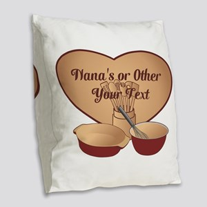 Personalized Cooking Burlap Throw Pillow