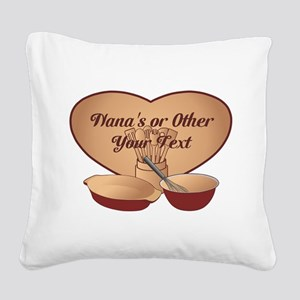 Personalized Cooking Square Canvas Pillow