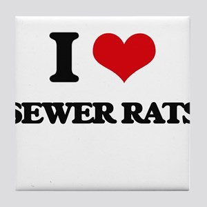 sewer rats Tile Coaster