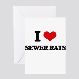 sewer rats Greeting Cards