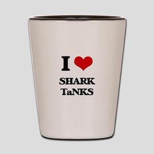 shark tanks Shot Glass