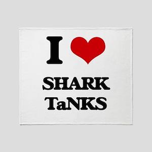 shark tanks Throw Blanket