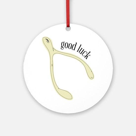 Wishbone_Good Luck Ornament (Round)