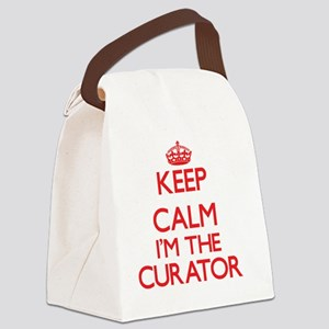 Keep calm I'm the Curator Canvas Lunch Bag
