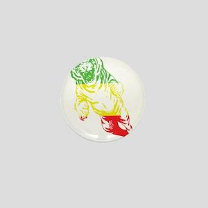 Rasta Lion Mini Button