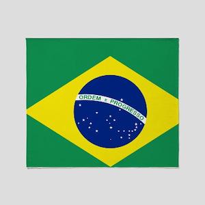 Bandeira do Brasil Throw Blanket