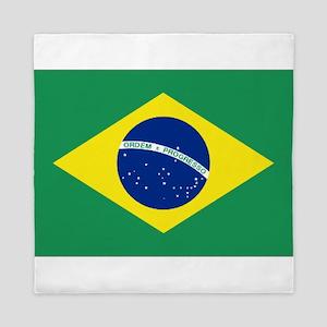 Bandeira do Brasil Queen Duvet