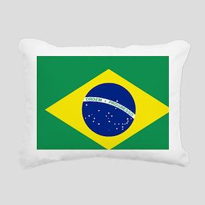 Bandeira do Brasil Rectangular Canvas Pillow