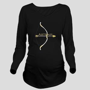 Bow of Artemis Long Sleeve Maternity T-Shirt