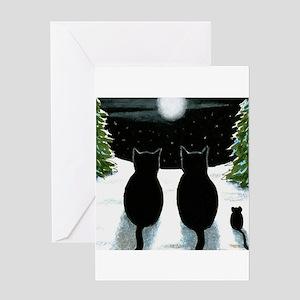 Black cat greeting cards cafepress cat 429 greeting cards m4hsunfo